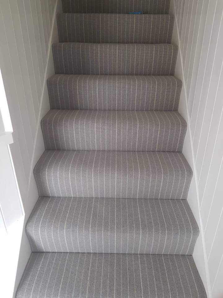 grey stripe stairs